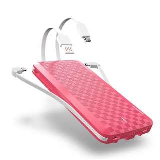(直接支援Switch,  iPhone X, 三星 Note 8) iWalk Scorpion X - 12000mAh 3.4A 快速充電 尿袋 移動電源 Power Bank- 內置 Lightning, Type-C, Micro USB 線