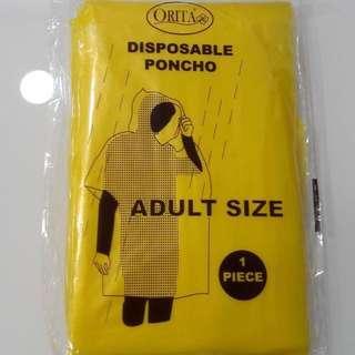 (Adult size) (1 piece) BNIB Disposable Poncho
