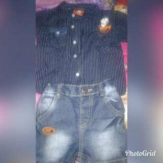 Jeans&kemeja anak