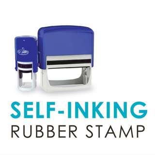 Customised Self Ink Rubber Stamp 28/2/2018