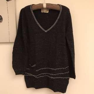 🚚 Gozo 編織設計混毛毛衣