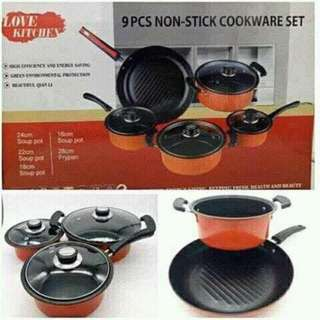 Love Kitchen 9pcs Cookware Set Soup and Fry