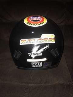 MHR venom glossy black helmet