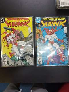 #7 & 8 TEEN TITANS SPOTLIGHT ON THE HAWK