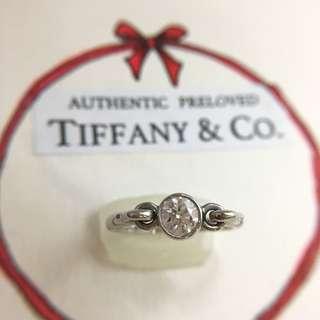 Authentic Tiffany & Co. Elsa Peretti Swan Diamond Ring RP$3200 Pt950 Platinum