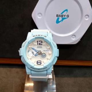 * FREE DELIVERY * Brand New 100% Authentic Casio BabyG Baby Blue & White Dial Baby G Ladies Watch Baby-G BGA180BE 2A2 BGA180BE-2A2DR
