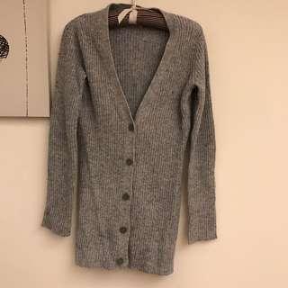 🚚 CK中長版扭扣針織毛衣外套