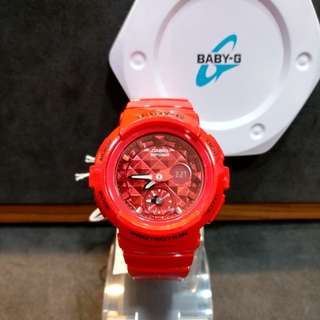 * FREE DELIVERY * Brand New 100% Authentic Casio Baby G Scarlet Red Baby G Ladies Watch Baby-G BGA195M 4 BGA195M-4ADR