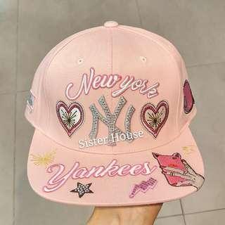 🇰🇷MLB Yankees New York Pink Cap 紐約粉紅色帽