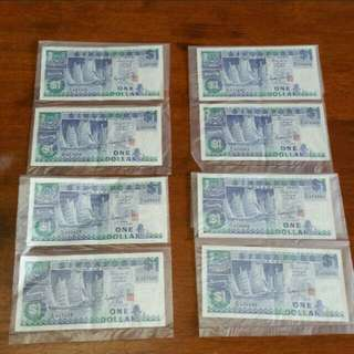 Ship series money notes currency collectibles running #