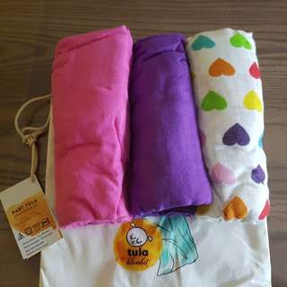 Brand New Tula Blanket Raibow Hearts Avery *Below Retail