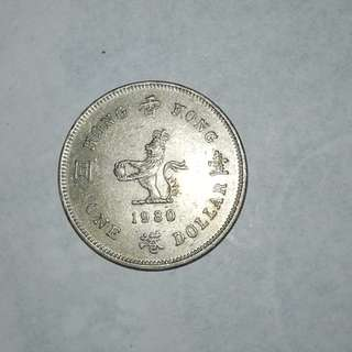 Hong Kong 1980 $1 coin
