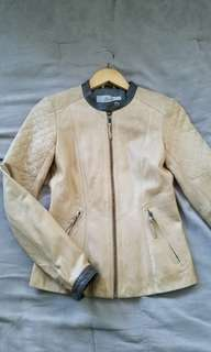 XS Leather Beige Jacket