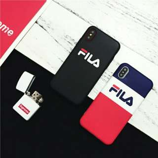 ⚠ Pre-order! Cool Fila fully wrapped soft matte design Phone Cover For IPhone 6, 6S, 6 plus, 6S Plus, 7, 7 Plus, 8 & 8 Plus and X!! (Enquire for availability!)