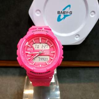 * FREE DELIVERY * Brand New 100% Authentic Casio BabyG Pink Baby G Ladies Watch Baby-G BGA240 4 BGA240-4ADR