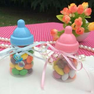 Cute Mini Milk Bottle Baby Shower Full Moon Party Door Gift Favors