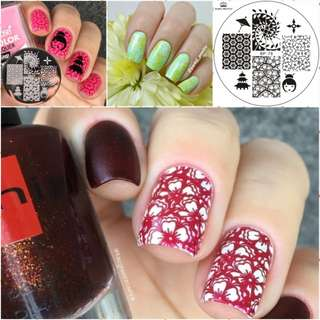 Flower girl umbrella Nail Art Stamping Template Image Plate BORN PRETTY BP78