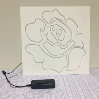 LED Neon Light Rose (Blue)