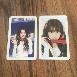 [Twice] Merry & Happy Official Photocards [Nayeon/Chaeyoung]