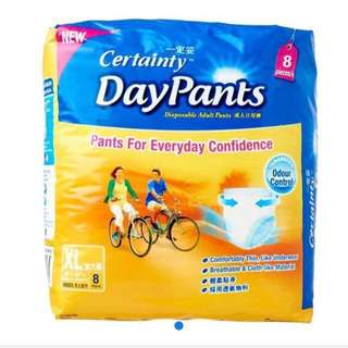 Certainty Day pants Disposable Adult Regular Pack XL diapers