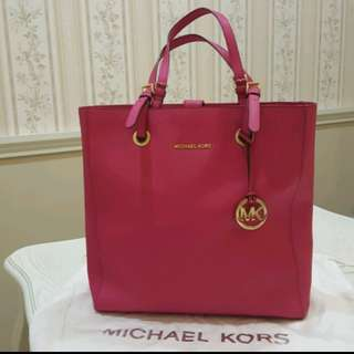 Michael Kors Jet Set Travel N/S Saffiano Tote Bag Raspberry Pink