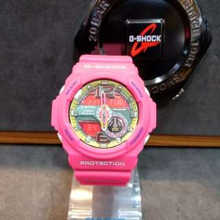 * FREE DELIVERY * Brand New 100% Authentic Casio GShock Matt Hyper Pink G Shock Ladies Watch G-Shock GA310 4 GA310-4ADR