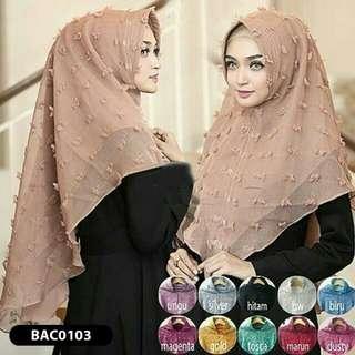 Hijab Jilbab Bergo Kerudung Scarft Instan Khimar SYARI rubi