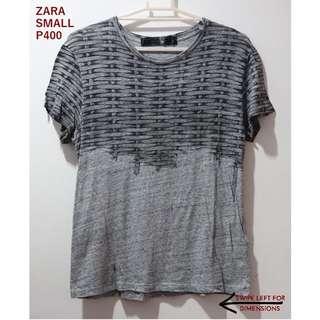 Zara Gray Graphic Tee