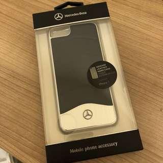 Mercedes-Benz IPHONE 6,6s,7,8 手機殻 黑色皮