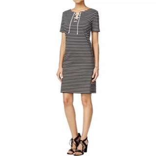 Brand new Nine West nautica stripe dress - Fits L XL XXL Uk14 Uk16 UK18 US12 US14 US16 Plus Size