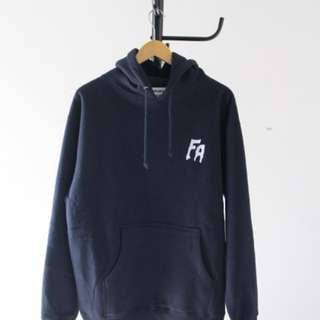 FUCKING AWESOME FA LOGO HOODIE NAVY size M dan L
