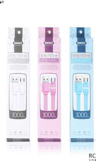 Remax breathe lightning cable pink