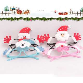 Christmas Old Man Glasses With Christmas Snow Man Glasses