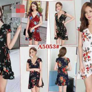 New arrival floral dress P380