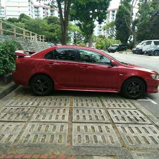 Lancer EX for rent on march sch holidays
