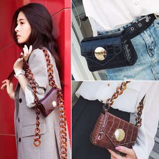 Po: 2 Way chain fanny pack