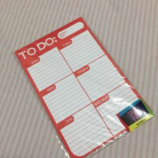 Task pad/To do (Weekly)