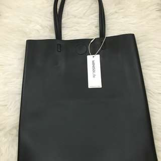 Tas miniso simple tote black miniso bag simple tote black
