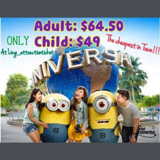 USS (UNIVERSAL STUDIO SINGAPORE) ADMISSION TICKET- THE CHEAPEST!!!