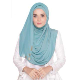 AZALEA BASIC SHAWL GOLDEN TURQUOISE