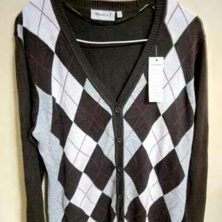 長袖冷衫xL碼(啡色)