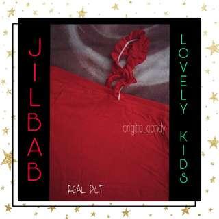 Preloved Jilbab For Lovely Kids Gelombang - Red Kode : 4 #MakinTebel