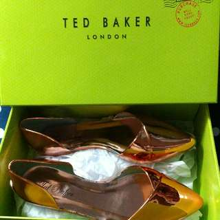 半價 Ted baker Dawfodyl Metallic Jelly 金屬款膠鞋 雨鞋