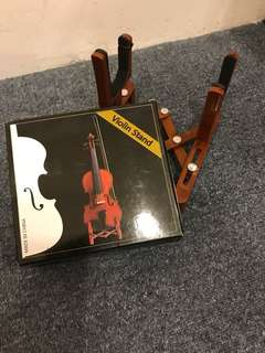 Violin music stand brown colour