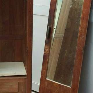Antique Vintage teakwood mirror