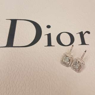 Dior miu miu style silver crystal earrings