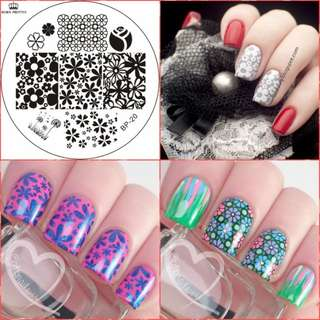 Mixed Flower Nail Art Stamp Template Image Plate BORN PRETTY BP20