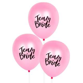10pc / Team Bride / Latex Balloons / Wedding / Party Supply