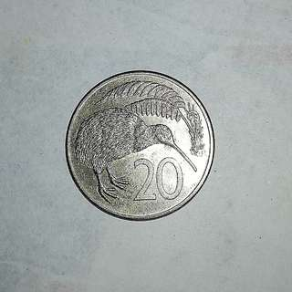 New Zealand 1983 20¢ coin