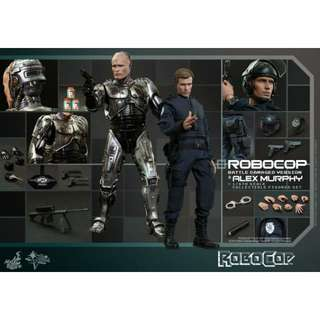 MISB Hot Toys Robocop and Alex Murphy Deluxe Set 1/6 scale figure